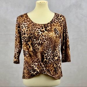 Anthropologie W5 Leopard Print T-Shirt Medium